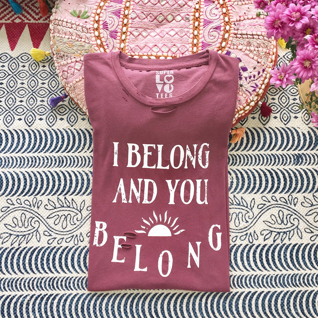 I Belong & You Belong - Garnet Red Cotton Unisex Tee