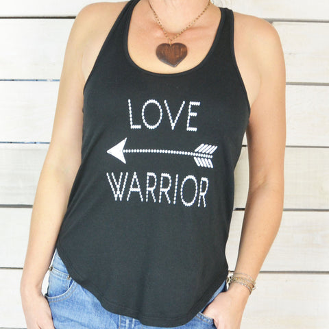 LOVE WARRIOR ~ Cotton, Shirt Tail Tank