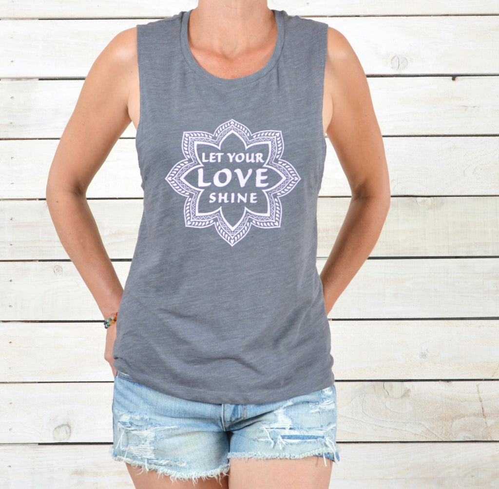 Let Your Love Shine - Muscle Graphic Tee Shirt