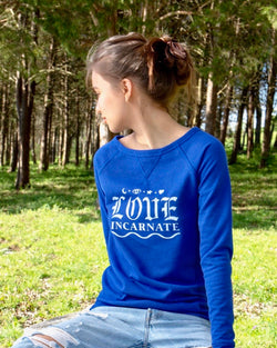 Love Incarnate  -  Royal  French Terry Pullover