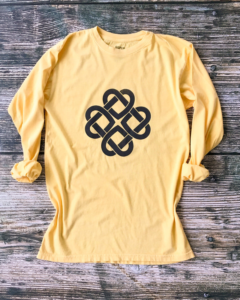INFINITE LOVE - LEMON Cotton Unisex Long Sleeve Tee