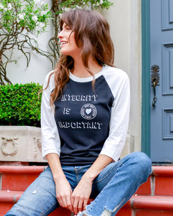 29b959043 Integrity is Important ~ Unisex Baseball Tee – SuperLoveTees ...
