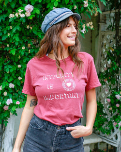 Integrity is Important -  Red Clay Cotton Unisex Crew