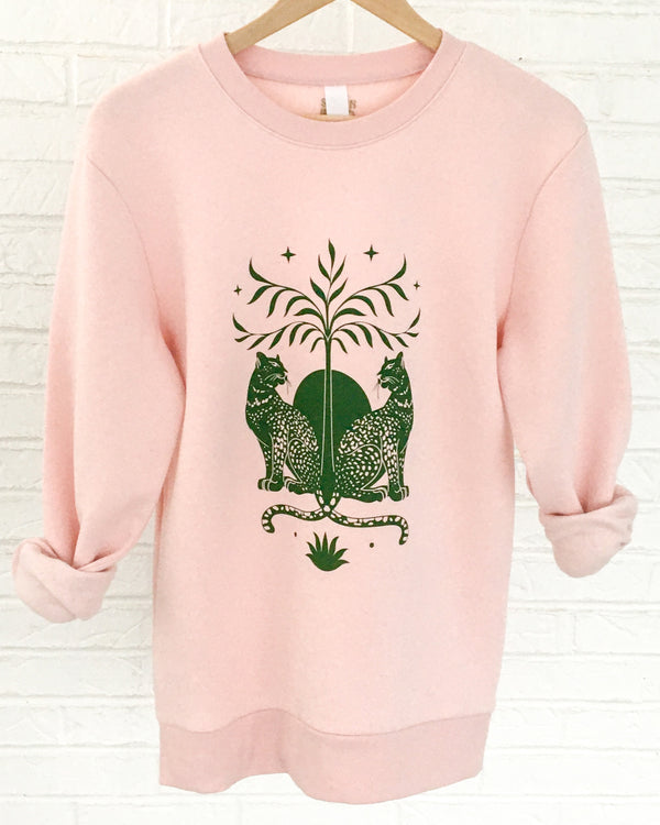 DUALITY - Rose Quartz Fleece Sweatshirt
