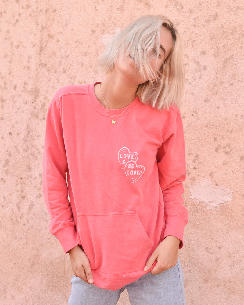 Love & Be Loved  - Watermelon French Terry Sweatshirt