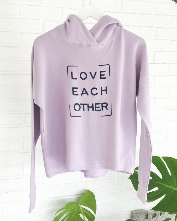 Love Each Other - Lilac Pullover Hoodie