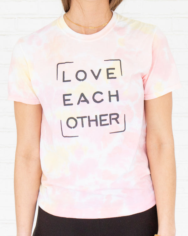 Love Each Other - Sunset Tie Dye Tee
