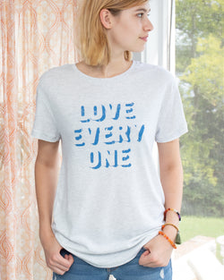 Love Every One ~  Soft and Long Skater Tee