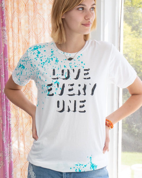 Love Every One - Splatter Cotton Unisex Tee