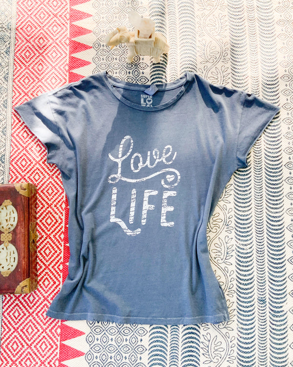 Love Life- Deep Blue Tee