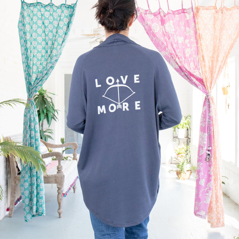 Love More  - Midnight Navy Wrap Cardigan