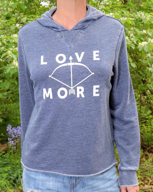 Love More - Faded Navy French Terry Hoodie