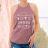 Love Rises Above - Desert Rose Cotton Halter Tank