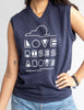 Love Rises Above - Navy Fleece Unisex Vest