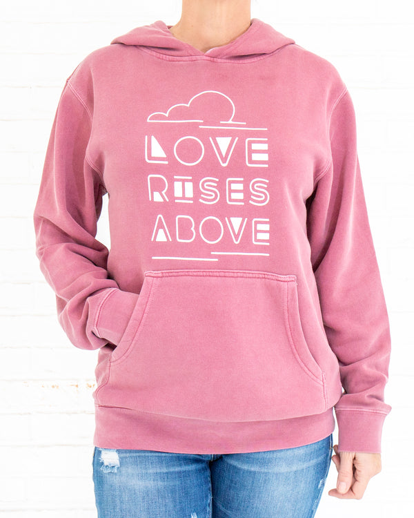 Love Rises Above -  Pullover Fleece Hoodie