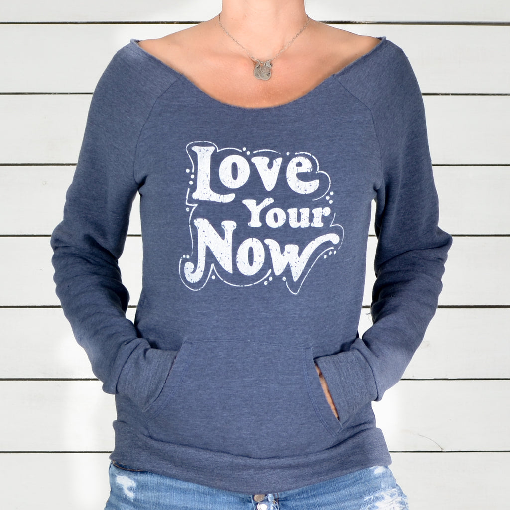 Love Your Now - Dancer Neck Fleece Sweatshirt