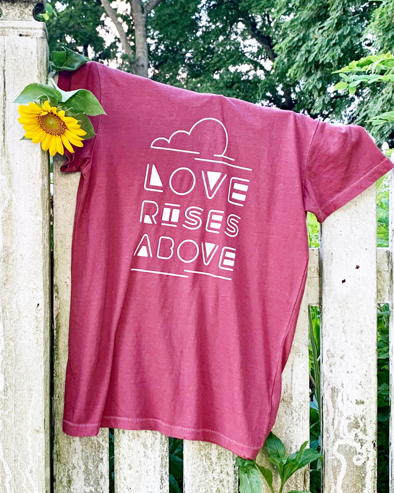 Love Rises Above -  Red Clay Cotton Unisex Crew