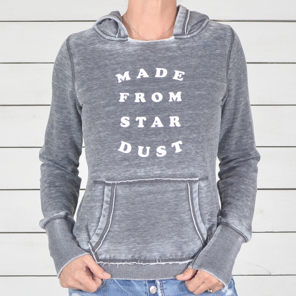Made From Star Dust - Coal Burnout Pullover Hoodie