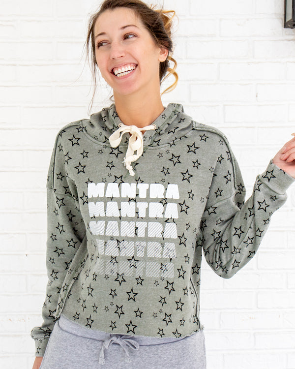 MANTRA Mantra Manta  ~ Starry Cropped Hoodie