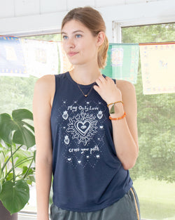 May Only Love Cross Your Path - Midnight Slinky Muscle Tee