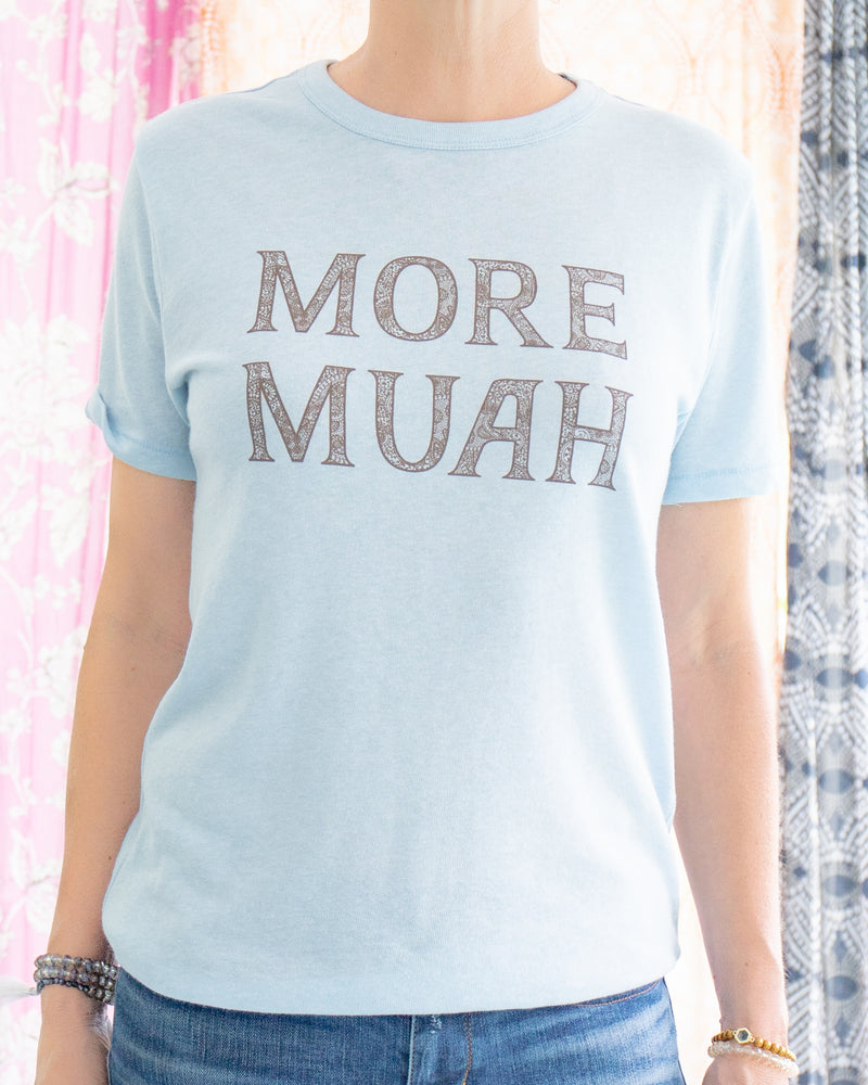 More Muah - Sky Blue Soft Unisex Tee