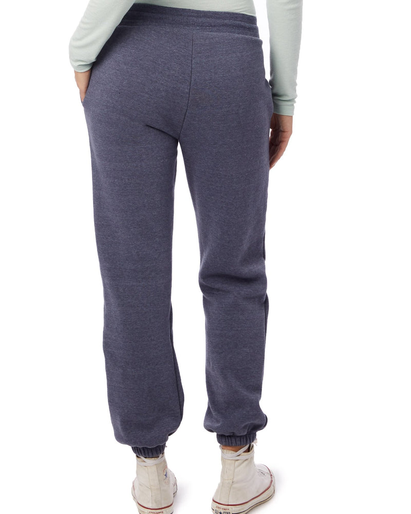 Heather Navy Sweatpants with Hamsa