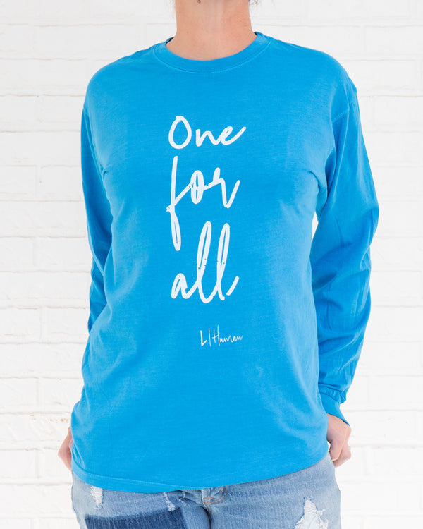 ONE FOR ALL -  Bright Ocean Unisex Long Sleeve Tee