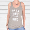 Open Your Mind ~ Khaki Racer Back Tank
