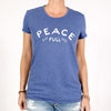 Peace Full-  Royal Blue Crew Tee