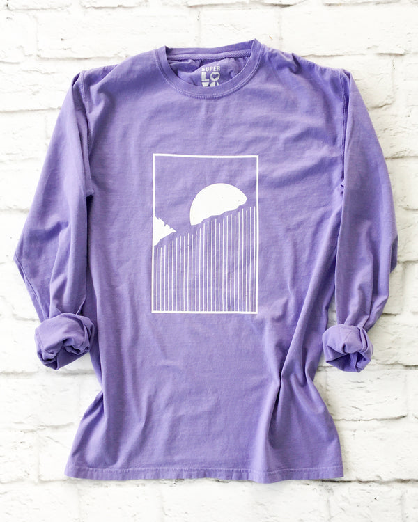 HORIZON - LAVENDER Cotton Unisex Long Sleeve Tee