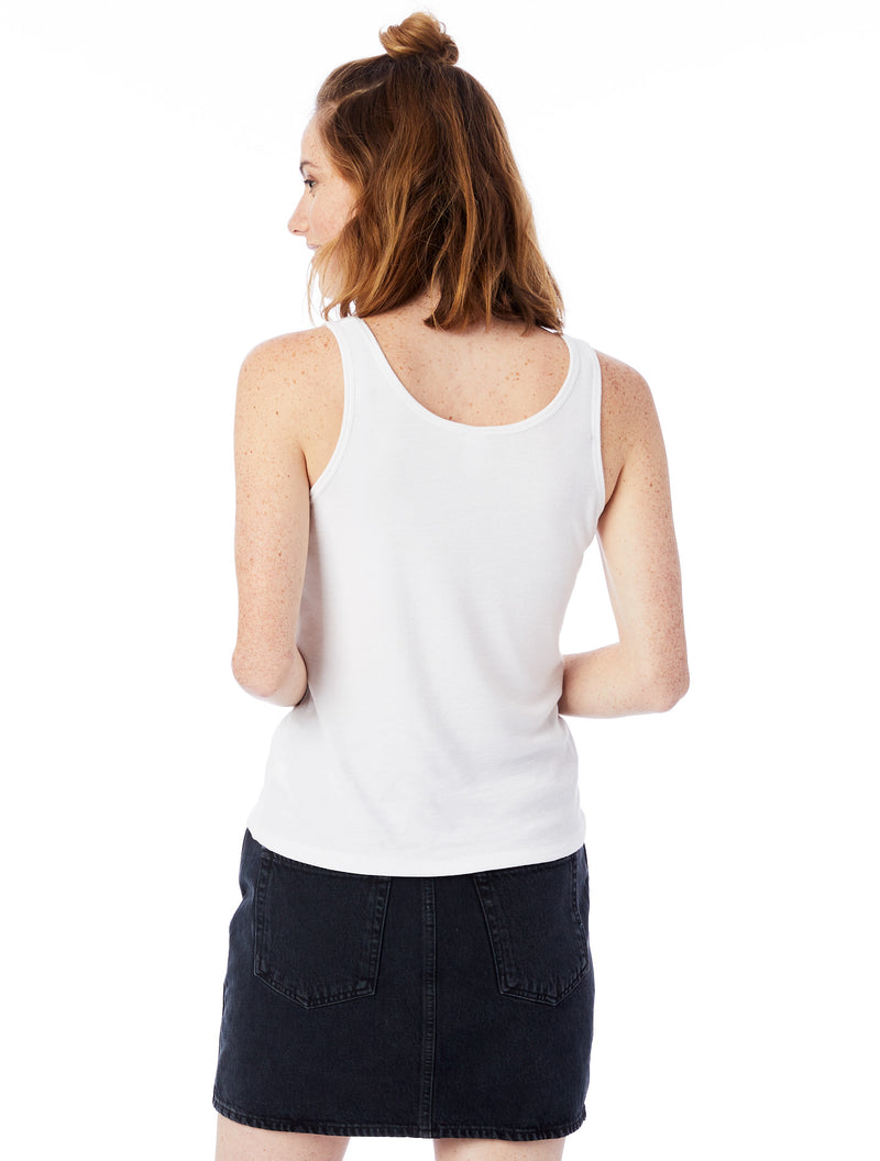 Integrity is Important - White Slinky Rib Tank