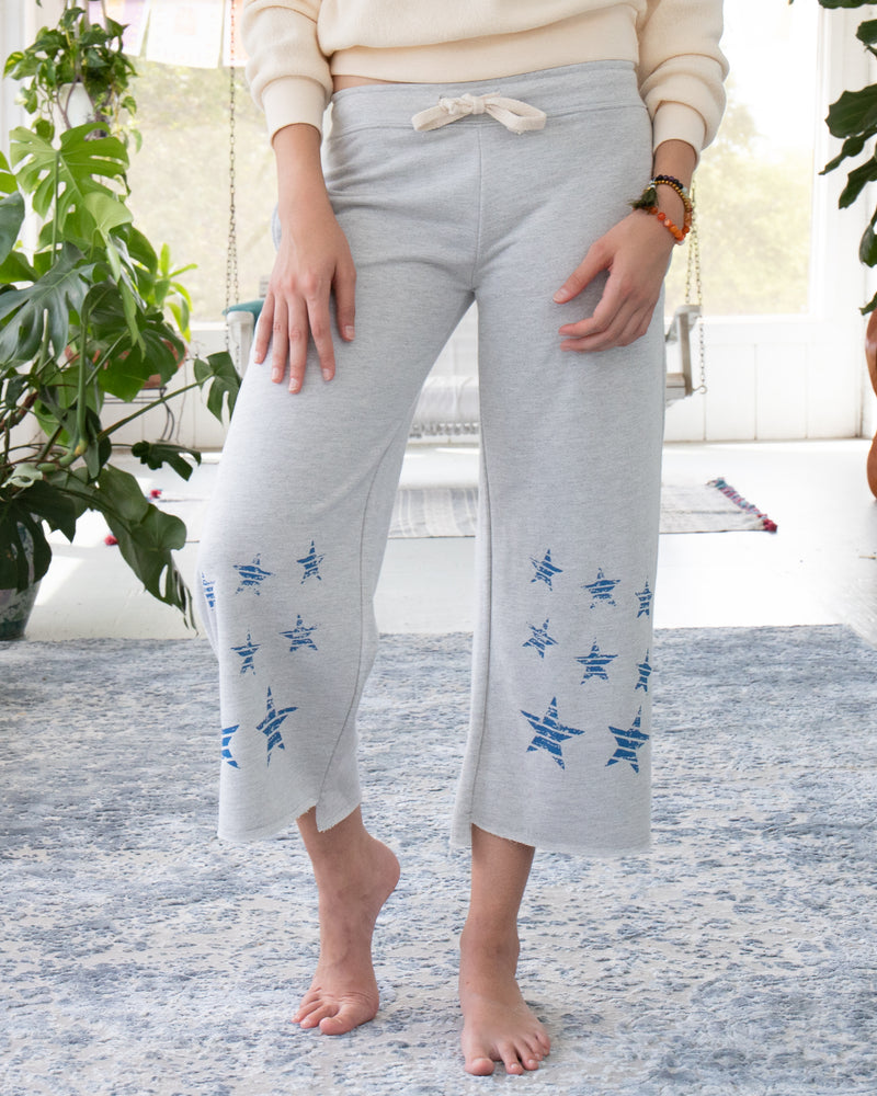 French Terry Flare Pant with Stars