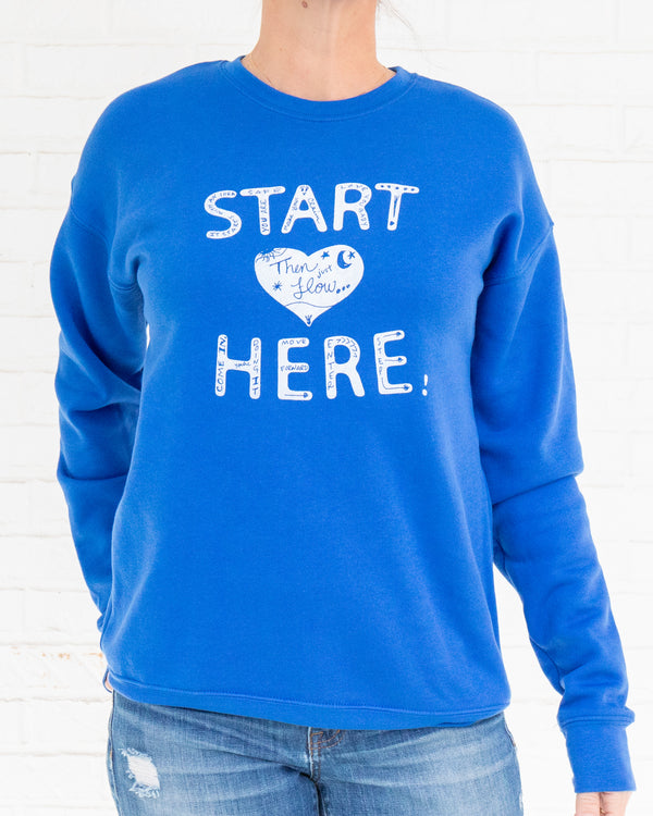 Start Here - Royal Fleece Sweatshirt