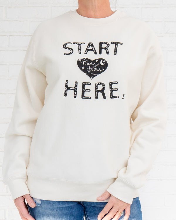 Start Here - Bone Heavyweight Sweatshirt