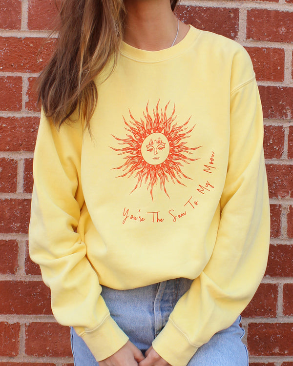 You're the Sun to my Moon - Yellow Sweatshirt