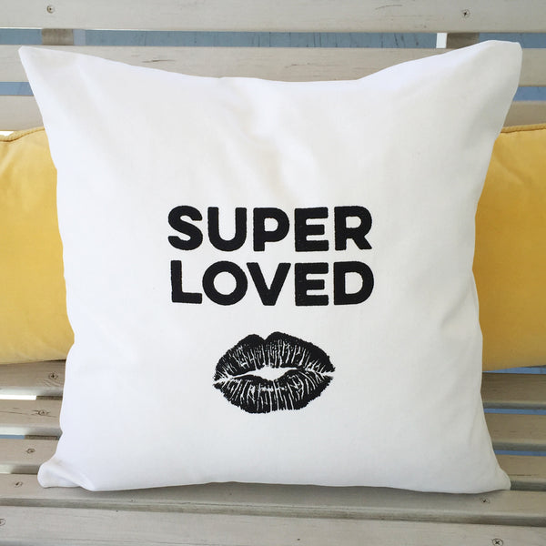 Super Loved  -  Organic Cotton Throw Pillow Cover