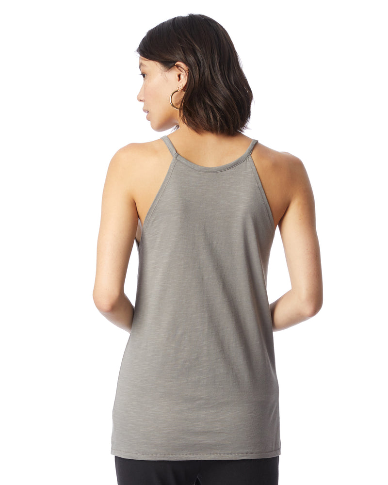 May Only Love Cross Your Path  - Stone Cotton Halter Tank