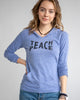 Teach Peace- Sky Blue Lightweight Pullover Hoodie