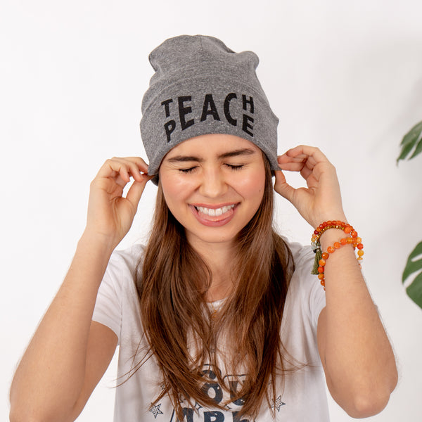 TEACH PEACE Knit Beanie