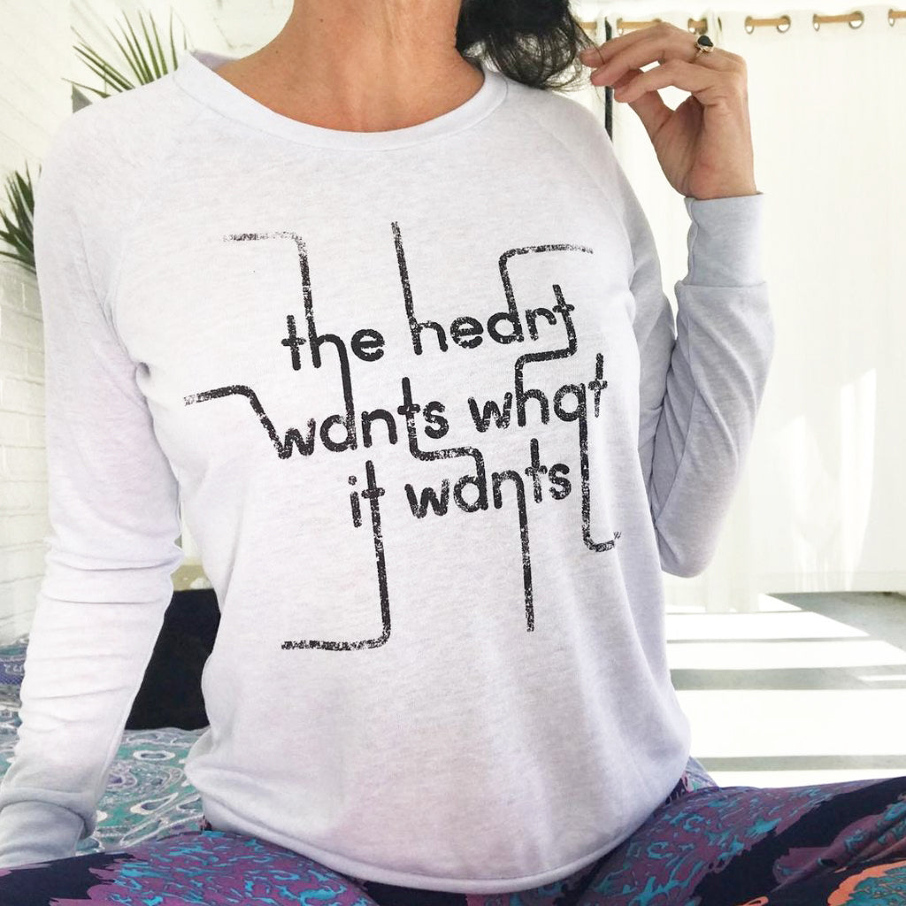 The Heart Wants What It Wants - Baby Blue Slouchy Pullover