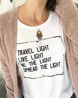 Travel Light,...Spread the Light. - Muscle Tee