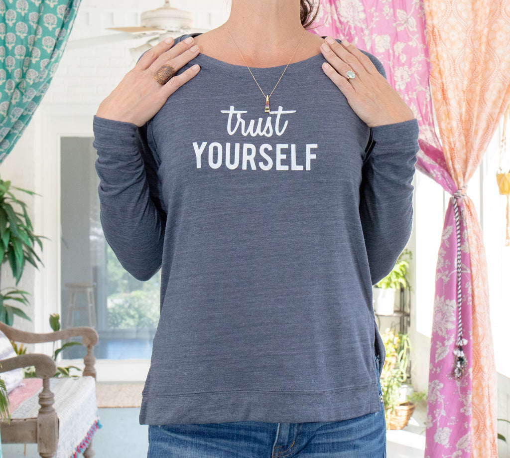 Trust Yourself - Navy Eco Friendly Pullover