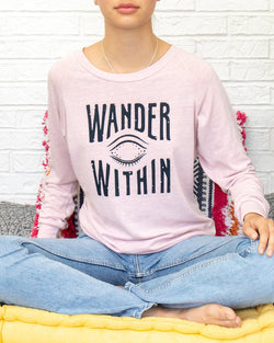 Wander Within   -  Rose Quartz Pullover