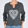 We Are One - Heather Black Raw Edge Sweatshirt