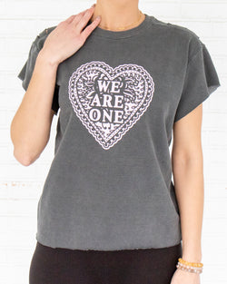 We Are One - Coal Short Sleeve Sweatshirt