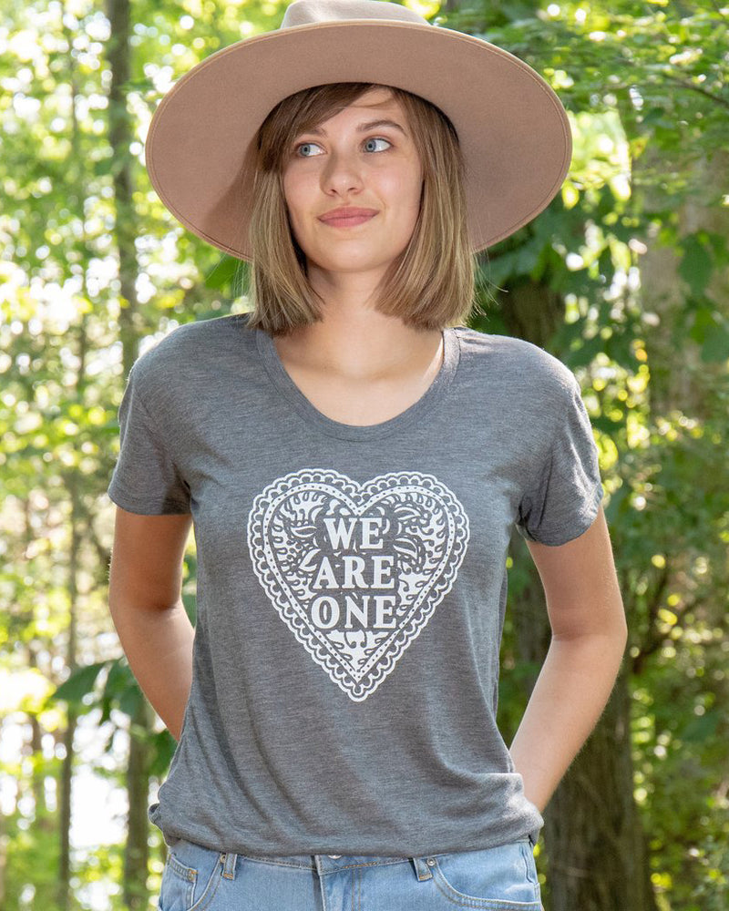 We Are One - Ash Flowy Tee