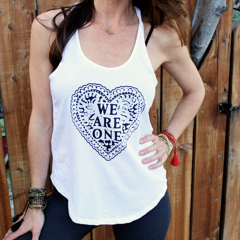 We Are One ~ Cotton Shirt Tail Tank