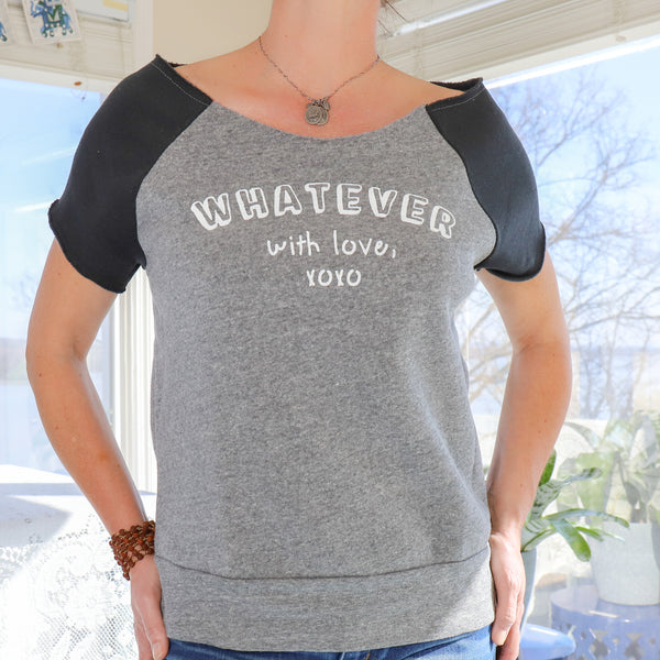 Whatever, with Love. -  Black and Grey Short Sleeve Sweatshirt