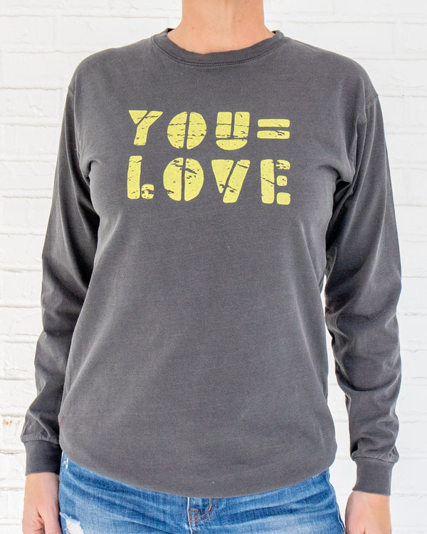 You = Love -  Coal Cotton Unisex Long Sleeve Tee