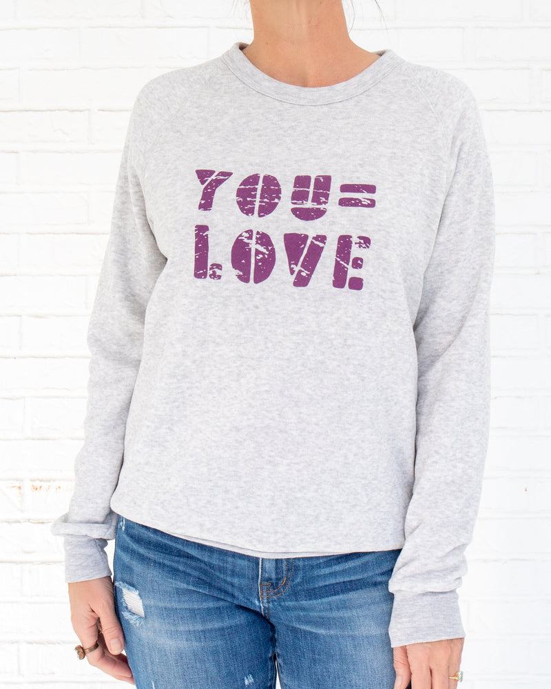 You = Love - Oatmeal Unisex Fleece Sweatshirt